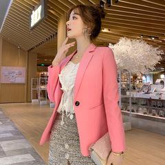 Ladies Blazer Long Sleeve Blaser Women Suit jacket Female Feminine Blazer Femme Blazer Autumn pink s