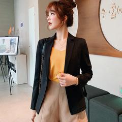 Ladies Blazer Long Sleeve Blaser Women Suit jacket Female Feminine Blazer Femme Blazer Autumn black s