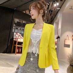 Ladies Blazer Long Sleeve Blaser Women Suit jacket Female Feminine Blazer Femme Blazer Autumn yellow s