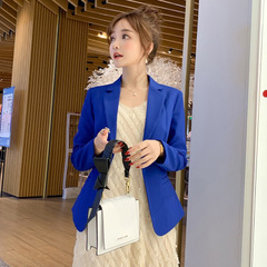 Ladies Blazer Long Sleeve Blaser Women Suit jacket Female Feminine Blazer Femme Blazer Autumn blue s