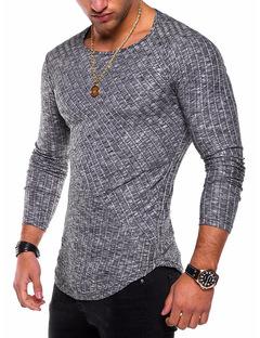 Casual Men's O-Neck Slim Fit Sweater Pullovers Men Fashion Spring Thin Knittwear Pullover Men balck s