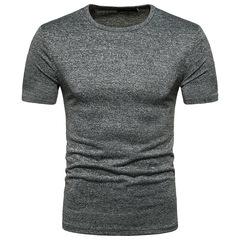 Men's Tops Tees 2019 summer new cotton o neck short sleeve t shirt men gray m polyester,cotton