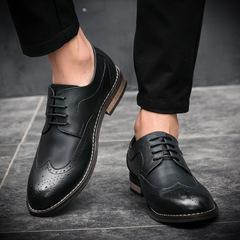 Genuine cow Leather Men formal shoes italian elegant classic designer luxury men oxford shoes black 38 Leather