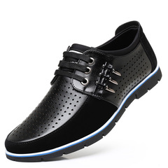 2019 Men casual shoes Genuine leather flat fashion comfortable luxury male shoes adult black 38 leather