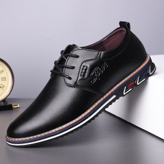 2019 male shoes adult Comfortable leather fashion sneakers men Formal casual shoes black 38 leather
