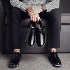 2019 Men casual shoes fashion brand comfortable luxury male sneakers Formal shoes black 38 leather
