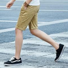 Top Casual Shorts Men Brend Fashion Beach Shorts Male Knee Length Puls Size M-5XL khaki m