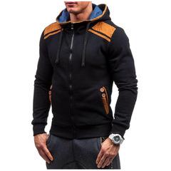 Men'S  Hoodies Zipper High Quality Sweatshirts Men Casual Fashion Men Hoody Plus Size 3XL balck m