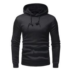 Hooded Men'S 2019 Brand Male Long Sleeve Hoodie Sweatshirt  Solid Color Simple Harness  Sportswear balck m