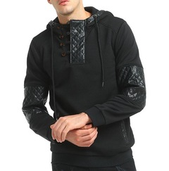 2019 Men Fashion Brand Pullover Hip Hop Hooded Sportswear Sweatshirt Men'S Tracksuits Moleton M-XXXL balck m
