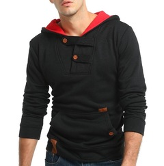 2019 Hoodies Brand Men Solid Color Sweatshirt Male Hoody Hoodie Mens Pullover Large Size 3XL balck m