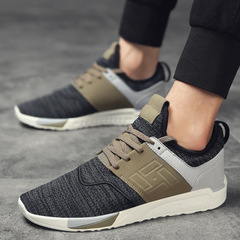 Spring Summer Men Sneakers Shoes Breathable Wear-resistant Casual Light mesh Shoes masculino adulto black cn 39