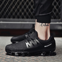 Summer Men Sneakers Spring Outdoor Shoes Men Casual Men'S Shoes Comfortable Mesh Shoes For Men black cn 39