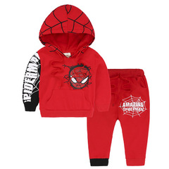 Spiderman Children Boys Clothing set Sports Suits 2-6 Years Kids 2pcs Sets Spring Clothes Tracksuits red 90cm/2t