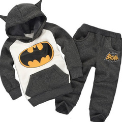 Children Outfits Tracksuit Clothing Children Hoodies + Kids Pants Sport Suit Boys Clothing Set grey 90cm/2t