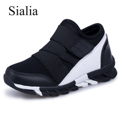 Sport Kids Sneakers For Boys Shoes Children Sneakers Girls Casual Shoes Breathable Mesh Runnin black 28