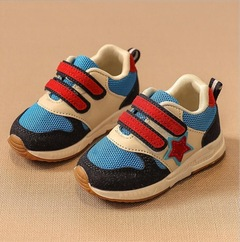 Sport Children Shoes Kids Boys Sneakers Net Mesh Breathable Casual Girls Shoes Running Shoe For Kids blue 21