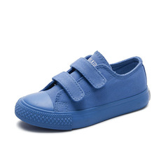 Students Canvas Shoes Breathable Boys Girls Sports Shoes Fashion Candy Sneakers Kids Toddler Shoes blue 25