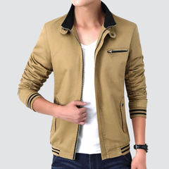 Men'S Jacket Army Military Jacket Men Casual Simple Coats Winter Male Outerwear Autumn Overcoat khaki m