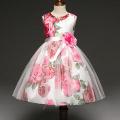 Summer Toddler Girl Dresses For Little Girl School Wear Children Wedding Clothing Kids Party Dresses white 110cm/4t
