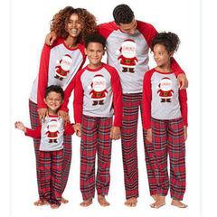 2019 Christmas Family Matching Pajamas Set Adult Men Women Kids Sleepwear Nightwear Clothes Sets red father s