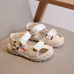 Baby comfortable sandals summer  boy girls beach shoes kids casual sandals children sport sandals white 21