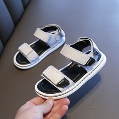 Boys Beach Genuine Leather Sandals Kids Summer Shoes Children Non- Slip Shoes Boys Sport Shoes white 21
