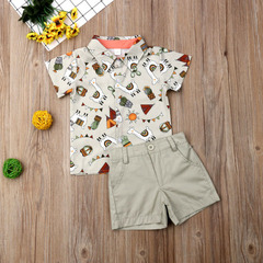boy Clothing Sets Formal Infant 1 Year Birthday Party Clothes Suit T-shirt+Pant Children's Sets grey 80cm/18m/s