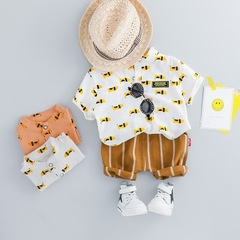 Summer Boys Clothes Sets Fashion Style CottonHigh Quality Children Sets baby boy clothes white 80cm/18m
