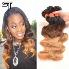 1PCS Ombre Virgin Hair Brazilian body Wave one color 10 inch