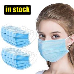 Free Shipping 50PCS Disposable Face Mask Thick 3-Ply Civilian Masks Breathable health care Face Mask 50pcs