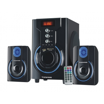 TAGWOOD MP-2142 2.1 Subwoofer With Bluetooth black pmpo: 5500w MP-2142