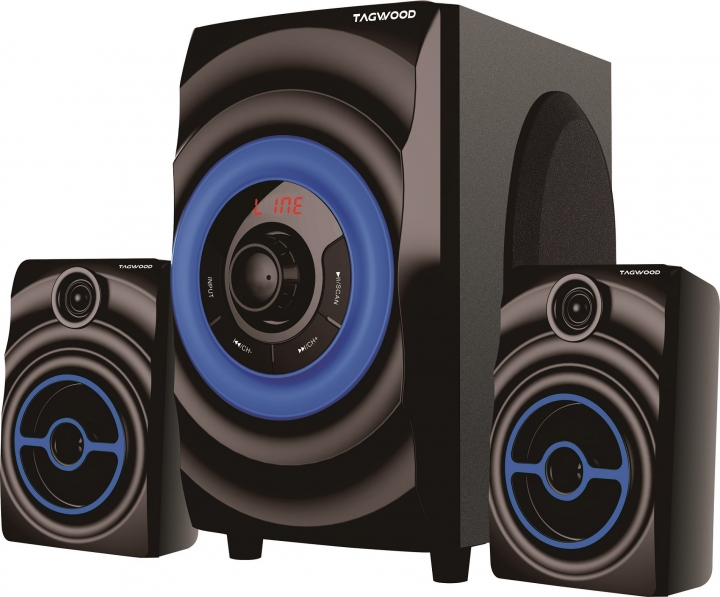 TAGWOOD MP-2173 Home Theater Sound System Bluetooth Speaker Subwoofer And FM Radio Black pmpo: 5500w MP-2173