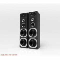 TAGWOOD MP-730P Twin Tower Home Theater Sound System Multimedia 2.1  Bluetooth Speaker Subwoofer black 38000 MP-730P