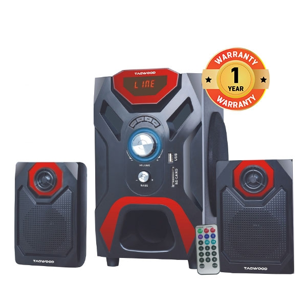 TAGWOOD MP-2166 2.1 Subwoofer With Bluetooth black pmpo: 5500w MP-2166