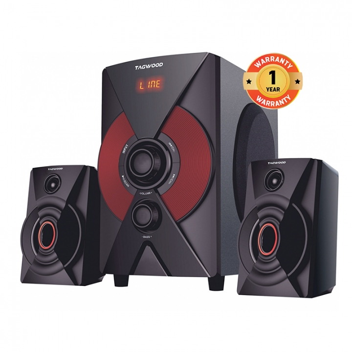TAGWOOD MP-2174 Home Theater Sound System Multimedia 2.1 Bluetooth Speaker Subwoofer And FM Radio black pmpo: 5500w m