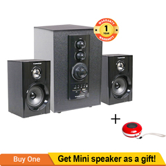 TAGWOOD Home Theater Sound System Bluetooth Speaker Subwoofer And FM Radio black 5500W MP-804