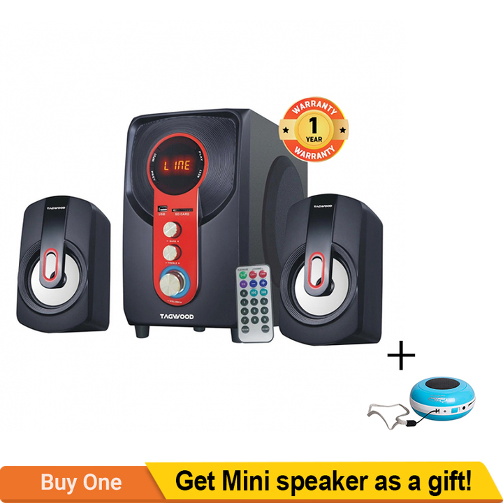 TAGWOOD MP-2160 Home Theater Sound System Bluetooth Speaker Subwoofer And FM Radio black PM.PO 5500W MP-2160