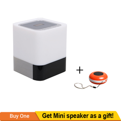 TAGWOOD MP-28 Cuboid LED Mini Wireless Bluetooth  Portable Speaker Subwoofer  Alarm Clock Stereo white 500W MP-28