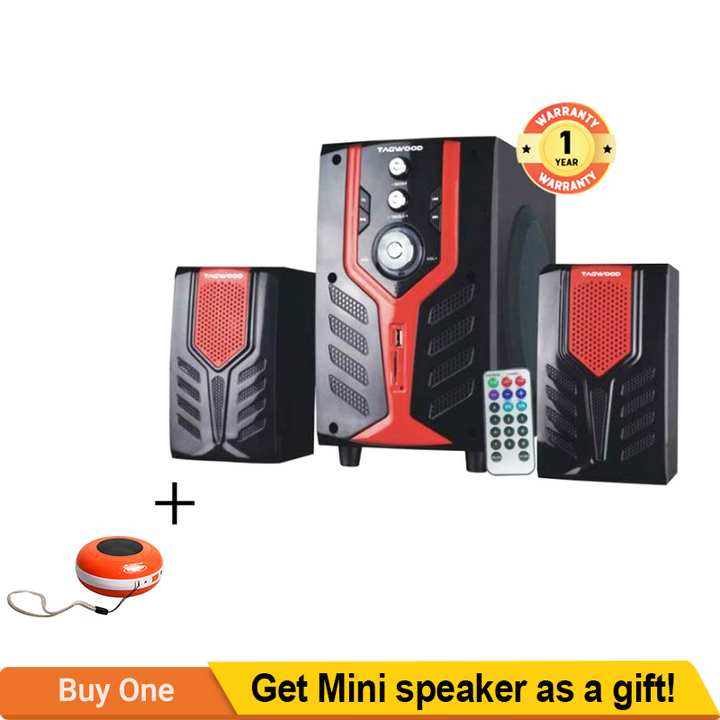 TAGWOOD MP-2171 Home Theater Sound System Bluetooth Speaker Subwoofer Black PMPO:5500W MP-2171