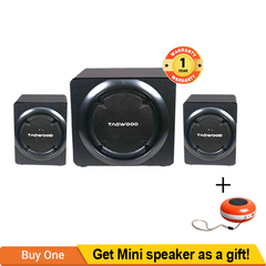 TAGWOOD MP-8117 Home Theater Sound System Bluetooth Speaker Subwoofer & FM Radio Black 12000W MP-8117