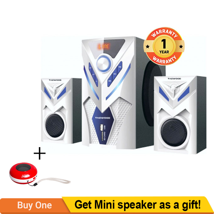 TAGWOOD MP-2044 Home Theater Sound System Bluetooth Speaker Subwoofer And FM Radio WHITE pmpo: 9000W MP-2044
