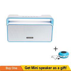 TAGWOOD MP-25 Mini Wireless Bluetooth Portable Speaker Subwoofer FM Radio White 500w MP-25