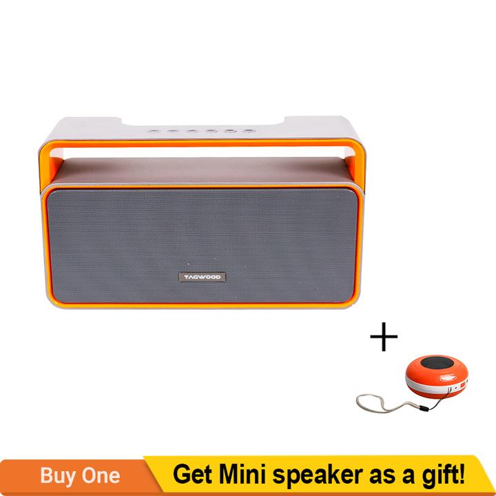 TAGWOOD MP-25 Mini Wireless Bluetooth Portable Speaker Subwoofer FM Radio Grey 500w MP-25