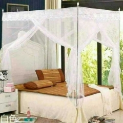 MOSQUITO NET WITH METALLIC STAND white 5*6