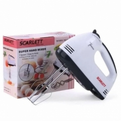 Scarlett 7 Speed Super Electric Hand Mixer white