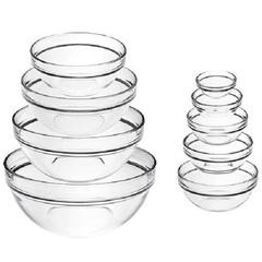 LUMINARC Set of 4 Round Glass Bowls crystal 4pcs