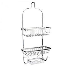 Vertical Fit Shower Caddy Bathroom Organizer silver 3 layers