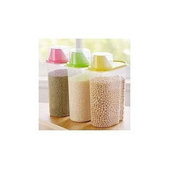 3Pcs Cereal Dispenser Storage Kitchen Dry Food Container, 1.9L multi color