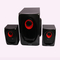FL-2108 2.1 Channel Multimedia Home Theater Speaker System Support Remote Control black 20w 2108